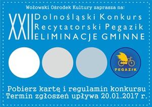 XXI Dolnośląski Konkurs Recytatorski Pegazik - Eliminacje Gminne